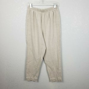Hot Cotton Lg leg 100% linen pants lagenlook beige